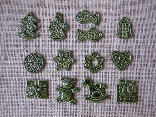keramické vánoční drobnosti
