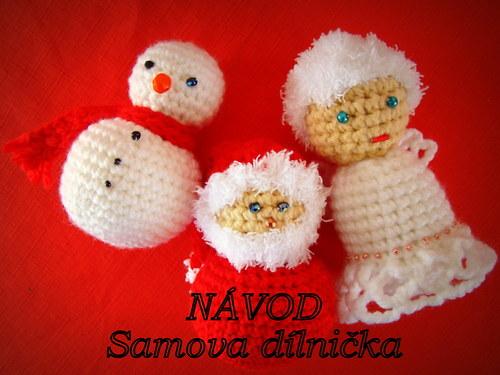 NÁVOD - Andělíček, Sněhulák a Ježíšek