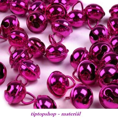 SLEVNĚNO o 50% - Rolničky 12mm růžovofialové (4ks)