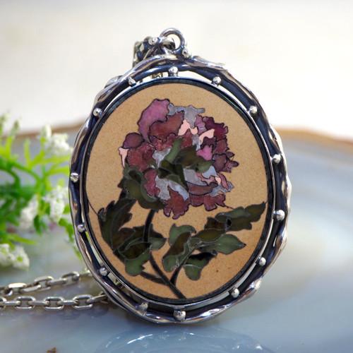 Přívěsek «Anglická růže» stříbro Ag 925
