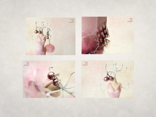 Růžová - sada 4 autorských fotografií