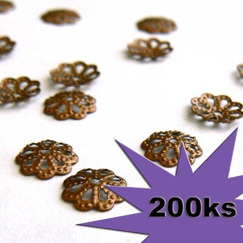 Kaplíky měď 200ks 6 a 5mm