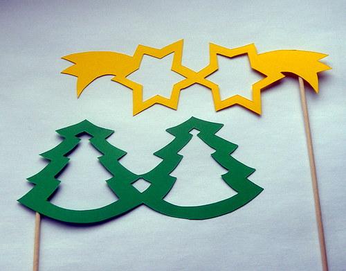 Betlémské hvězdy nad jehličnatým lesem :-)