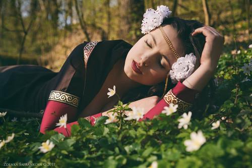 Květinová koruna Sněhurka