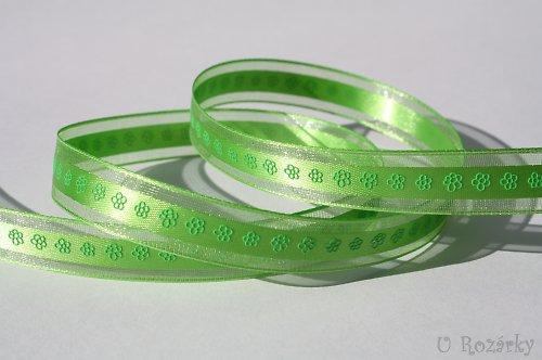 Stuha monofilová (květinky)  - šíře 15 mm, zelená