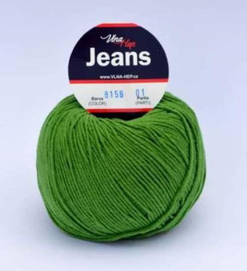Jeans zelená 8156