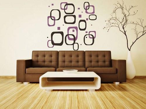 Samolepíci dekorace na zeď 2647n Obdĺžniky,štvorce