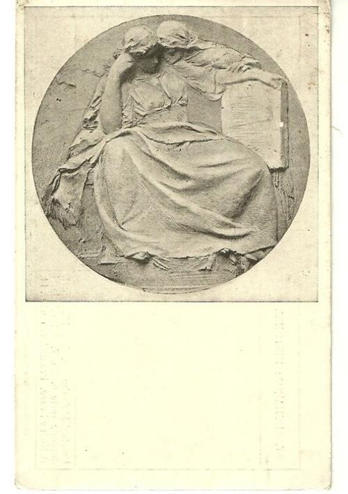 Umělecká pohlednice relief St.Sucharda Historie