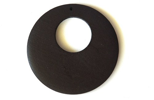 Dřevěné kolečko - tmavě hnědé