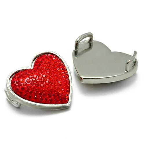 Červené srdce 30x30mm
