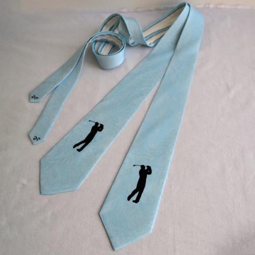 Hedvábná kravata s golfistou