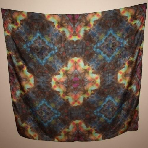 Kouzlo orientu I.- hedvábný šátek 110 x 110