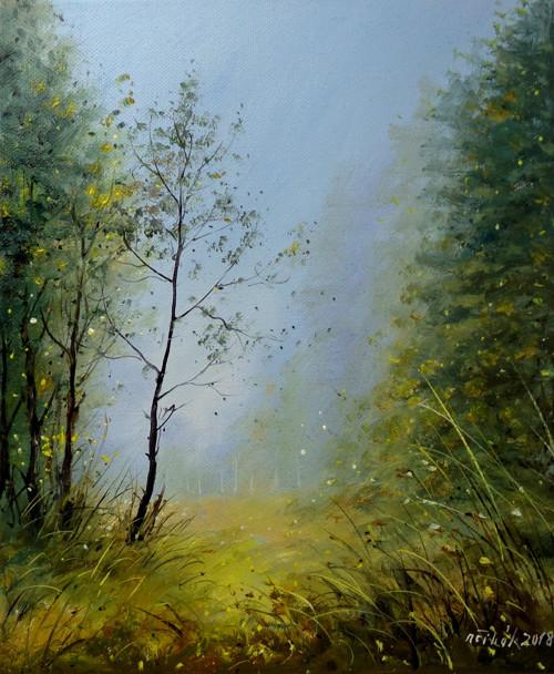 Údolí stínů - originální malba olejem