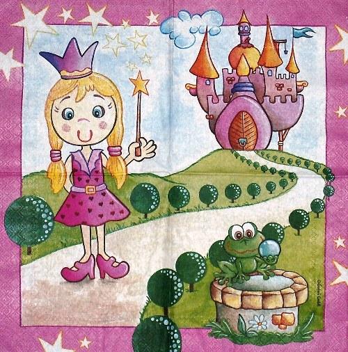 Ubrousek - princezna se žabkou