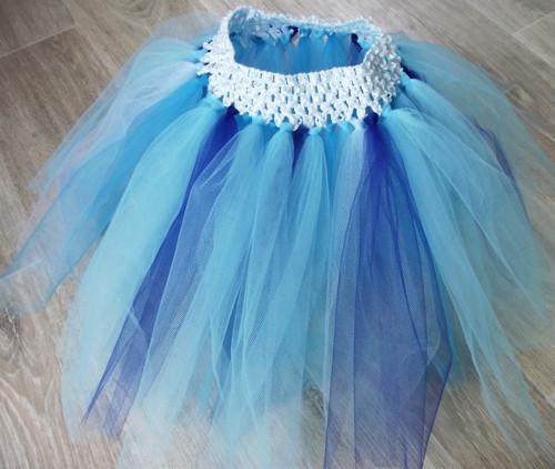 Tutu sukýnka - modrá -1-7let