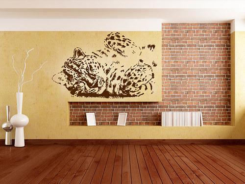 Leopard - samolepka na zeď