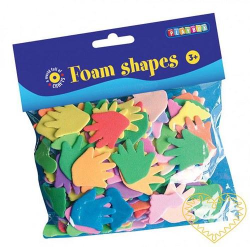 Nohy a ruce - výseky z pěnové/ mechové gumy 150 ks