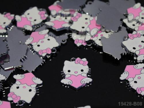 19428-B08 Přívěšek Kitty se srdíčkem