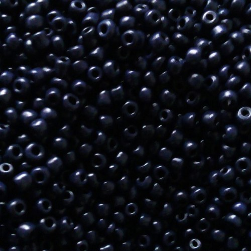 Korálky 320g - temně modrá