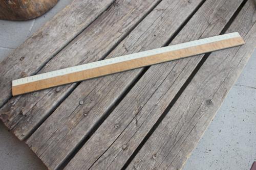 Staré dřevěné pravítko - 50 cm