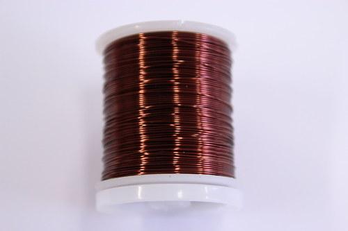 Měděný drátek 0,5mm - tm.hnědý, návin 19-21m