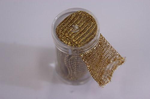 Drátěná dutinka 18-20mm, zlatá/lesk - 1m
