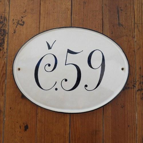 Domovní číslo na zakázku - 59 bez dekoru