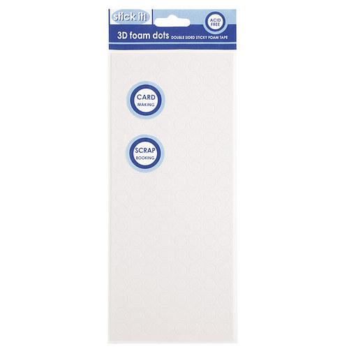 3D pěnové polštářky tečky - 10 mm -  bílé