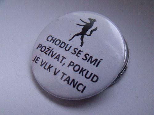 """Button \""""Vlk v tanci\"""""""
