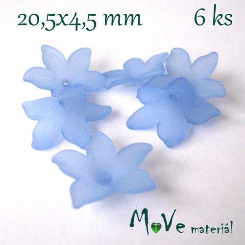 Akrylový květ - transparentní 20,5mm, 6ks, modrý