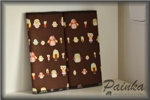 Chrániče ramenních popruhů nosítek - sovy čokoláda