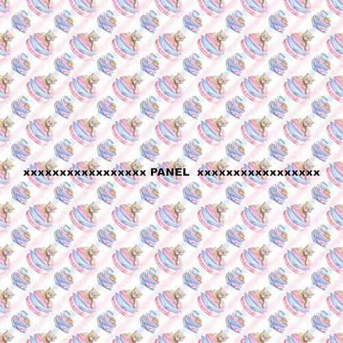 Úpletový panel KOLEKCE KOČIČÍ ČTENÁŘKA 50 x 50 cm