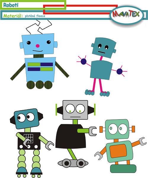 šablona robot