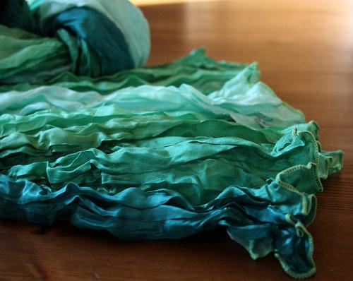 Pléd zelený s petrolejem Magic colours