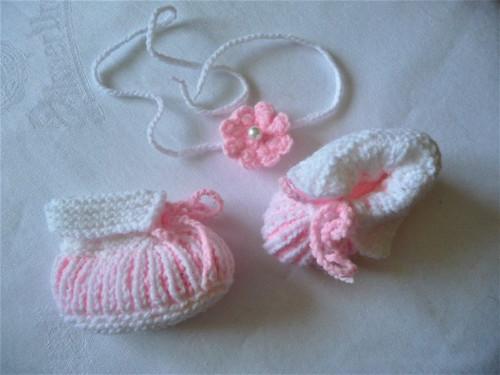 Čelenka+capáčky-sada bílo-růžová