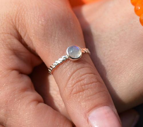 Popletený s Měsíčním kamenem... AG prsten