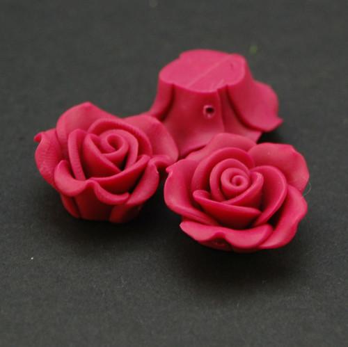Růže korálek fimo   KV8