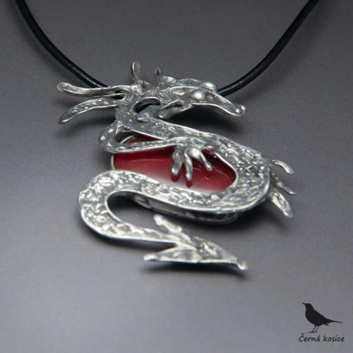 Ohnivý drak (Sklo) - náhrdelník