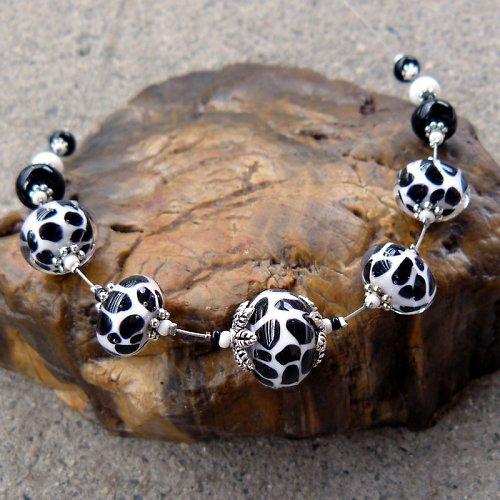 Náhrdelník - 11 bantamů - dalmatin