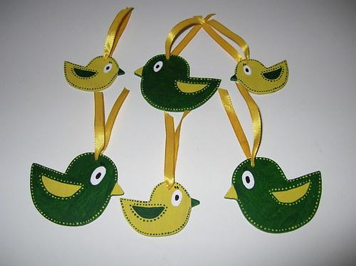 Ptáčci k zavěšení- malé