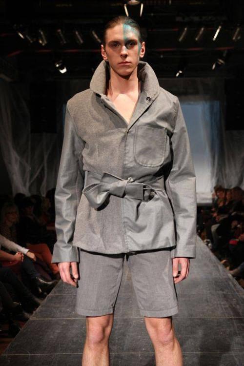 podzimní/ zimní šedivý kabát (unisex)