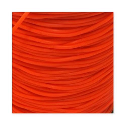 Gumová šňůrka - dutinka / 2 mm / Oranžová