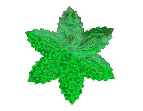 Flitry - zelená  vánoční hvězda (1433-164) 50g