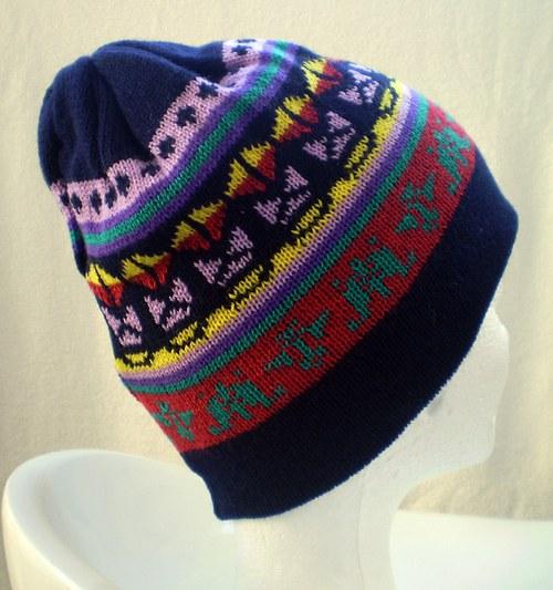 Čepice s norskými vzory