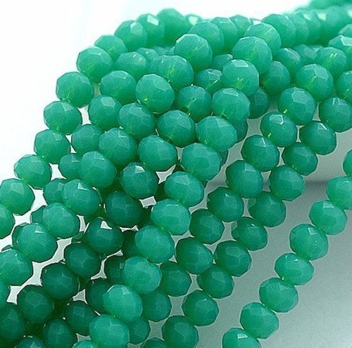 Skleněné korálky 3x3 mm, 100 kusů - tmavě zelené