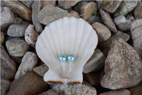 Elegantní náušnice z tyrkysových perel