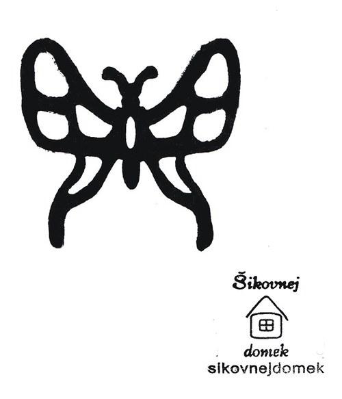 Razítko motýl - v.5x5,5cm