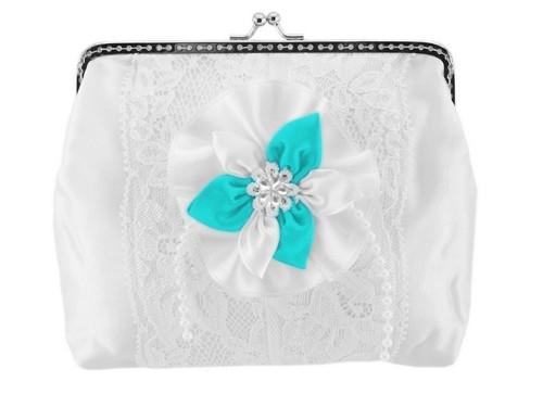 Dámská kabelka bílá, svatební kabelka E5