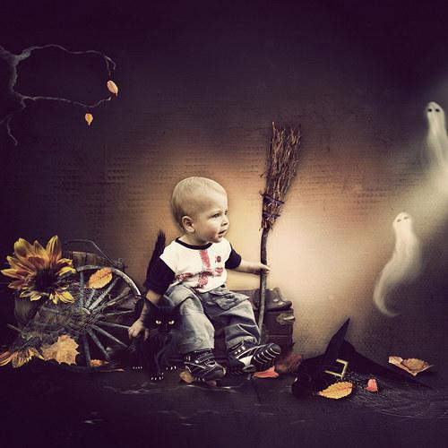 Scrap z vaší fotky (kit Scary Night)