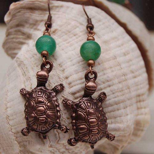 Měděné želvy s dračími acháty